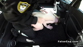 Milk skinned blonde bangs fake cop