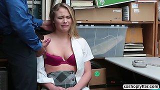 Shoplifter alyssa cole hardcore sex with lps huge cock