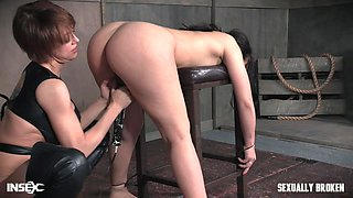 naughty babe gets railed by the mistress and master