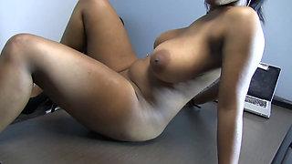 Big breasted black girl next door Thalia fucked