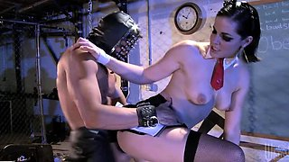 Kinky Teacher Bobbi Starr Fucks For a Lesson In Leather School