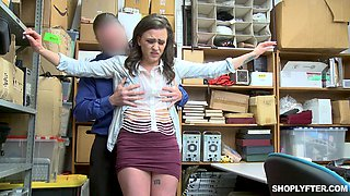 Office doggy fuck with shy amateur Alex More forced to suck dick