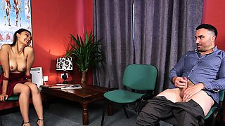 Classy british voyeur teases and instructs