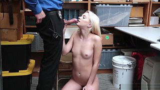 Tighty Teen Thief Punish Fucked For Stealing By Security