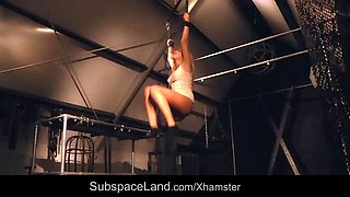 Kinky bondage domination for mouth drilled teen slave girl