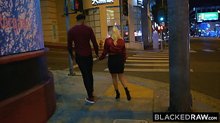 BLACKEDRAW Boyfriend with cuckold fantasy shares his blonde