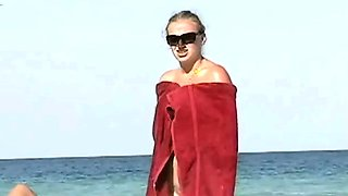 Exquisite nude beach voyeur spy cam video