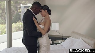 Big black cock for Latina bride