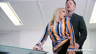 Lewd news announcer Sienna Day is happy to be analfucked hard