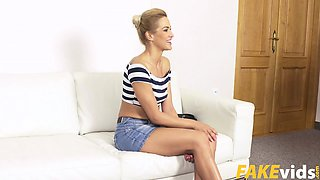 Cherry Kiss In Glamour model in sweaty couch fuck