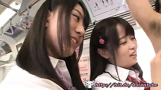 Asian schoolgirls train - Watch Part2 on video site
