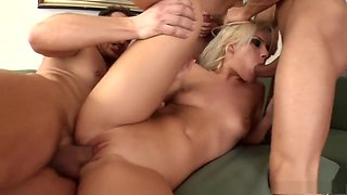 Crazy pornstar in horny dp, blonde adult movie