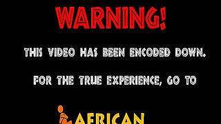 Chubby african slave gets used as it is intended to