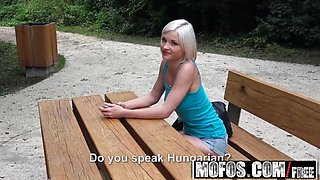 Mofos - Public Pick Ups - Euro Babe Fucked in the Woods starring  Zazie Skymm
