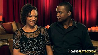 Perfect Ebony Couple Is Ready To Try Swinger Sex On Cameras
