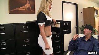 WANKZ- Big Dicked Employee Seduces Hot Boss