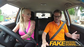 Fake Driving School Big Tits babe Fucks her instructor