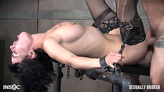 Nasty slave bitch gets pounded by her master
