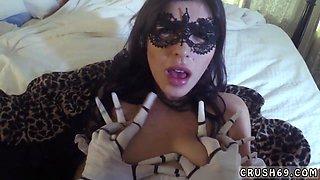 Teen pierced boobs and big booty ebony hardcore Swalloween Fun
