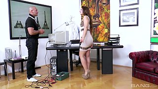 Wild office whore Regina is actually for some steamy analfuck at work