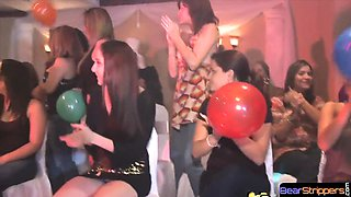 Watch cfnm party go wild as girls jerk cock