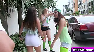 Slutty babes sizzling orgy on St Patricks Day