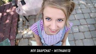 petite babysitter caught her snapchat - wetmami19 add