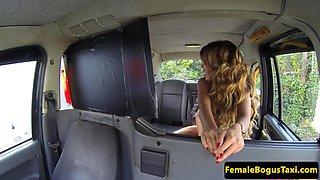 Faketit cabbie with roundass riding dick